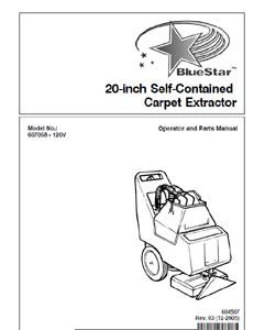 Part Manual For Bluestar Model 607058