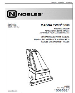 Part manuals for Nobles Magna Twin 3000