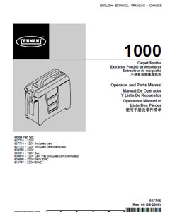 tennant 1000 part manual