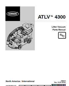 tennant atlv 4300 part manual