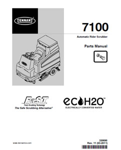 tennant 7100 part manual
