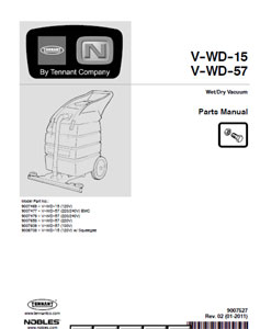 v-wd-15/57 part manual