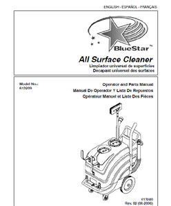 bluestar 613239 part manual