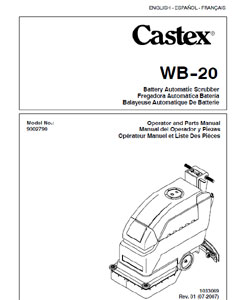 castex wb-20 part manual