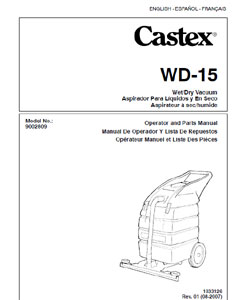 castex wd-15 part manual