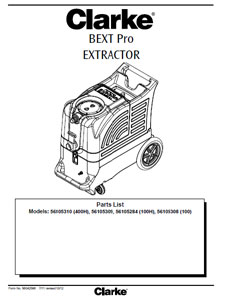 Part Manual For Clarke Bext Pro Extractor