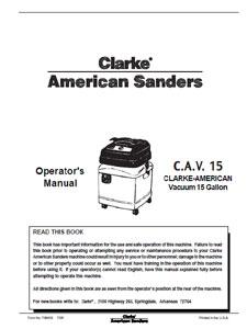 Clarke CAV 15