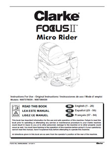 Part Manual For Clarke Focus Ii Micro Rider