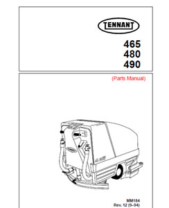 tennant 465,480,495 part manuals