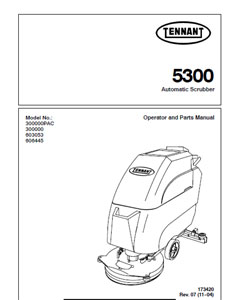tennant 5300 part manuals