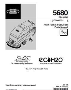 tennant 5680 part manuals