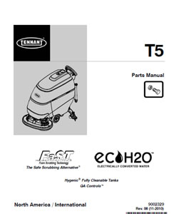Parts Manual For Tennant Auto Scrubber T5