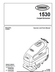 tennant 1530 part manual