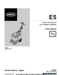 tennant e5 part manual