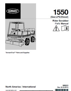 tennant 1550 rider part manual