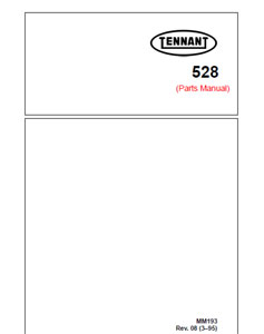 tennant 528 part manual