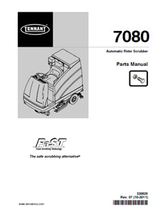 tennant 7080 part manual