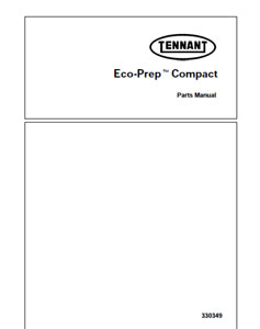 tennant eco prep compact part manual